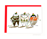 Deck the Halls- Christmas Cat Card