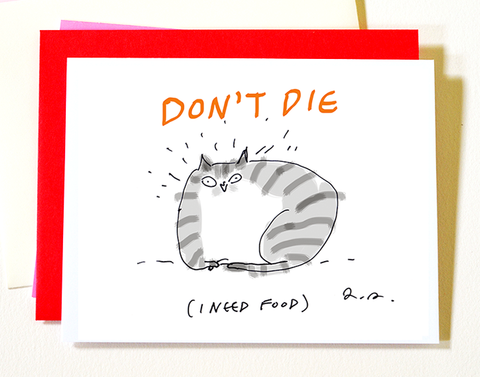 Don't Die - Get Well Soon Cat Card