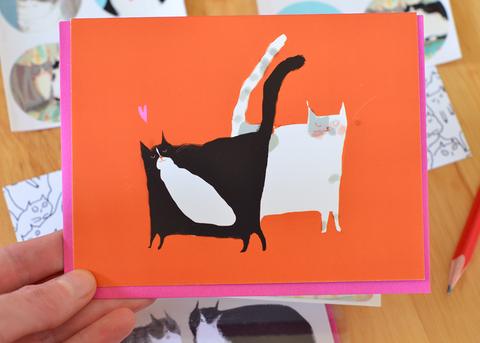 Dynamic Duo Cat Card