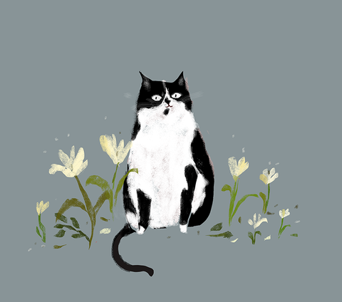 Country Cat - The Nature Lover - Cat Print