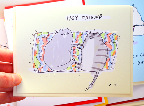 Hey Friend - Thinking of You card