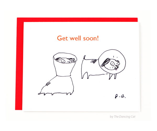Get Well Soon Dog card