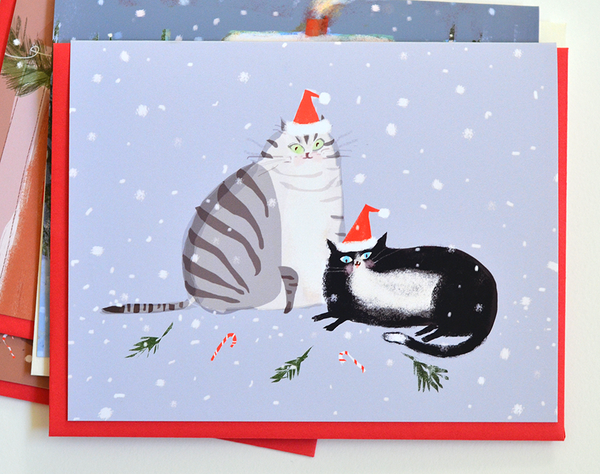 Holiday Cheer - Christmas Cat Card