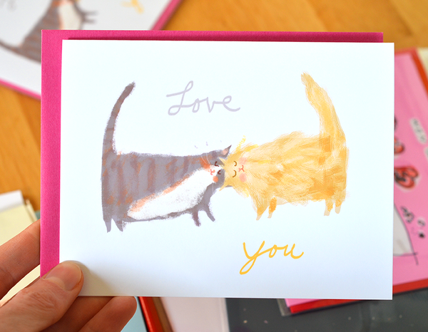 Love You Headbutt Card