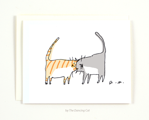 Headbutt Cat Card