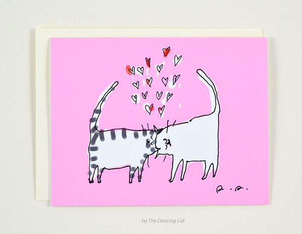 Headbutt Love Card Pink