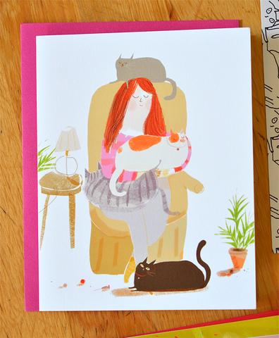 The Healing Touch - Cat Lady Card - Thinking of You
