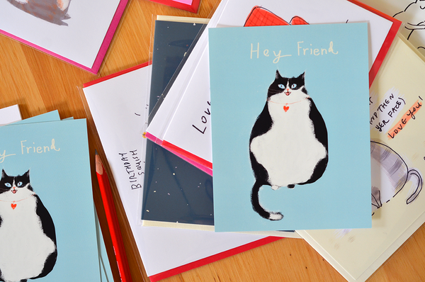 Hey Friend Cat Postcards - Set of 12