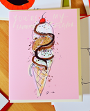 Kitty Cone - You're My Favorite Flavor - Ice Cream Cat Card