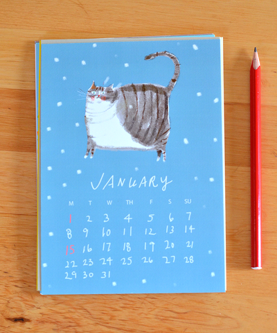 The Dancing Cat Calendar 2018- Small