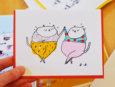 Jazz Pants - Cat Card