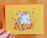 Leaf Lover - Fall Cat Card