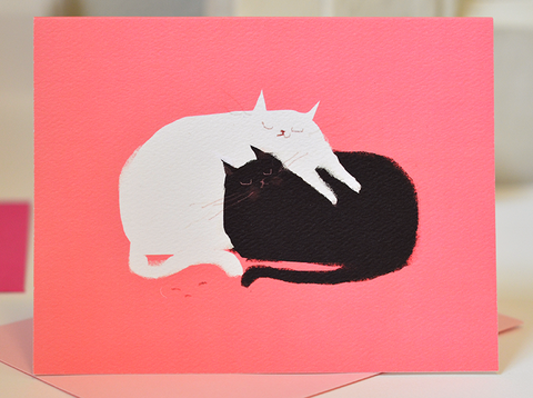 Love Pile - Cat Card