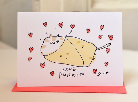 Love Purrito - Mini Card