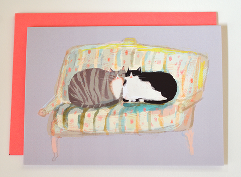 Thinking of You - Sofa Cats - Mini Card
