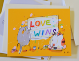 Love Wins Cat card