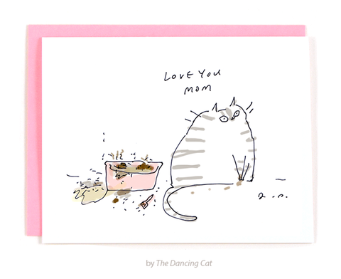 Litter Box Mom Card - Love You Mom