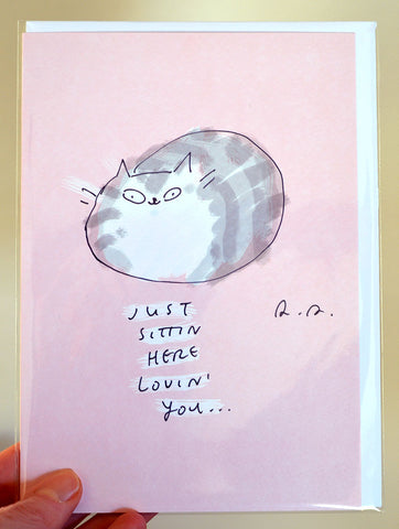 Lovin' You - Large Cat Card