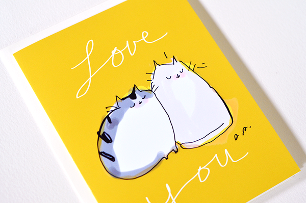 Love You Cat Card - Two of a Kind