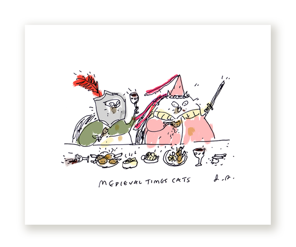 Medieval Times Cat Print