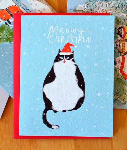 Meowy Christmas Cat Card