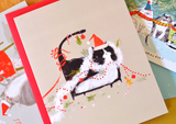 Merry Mess - Christmas Cat Card