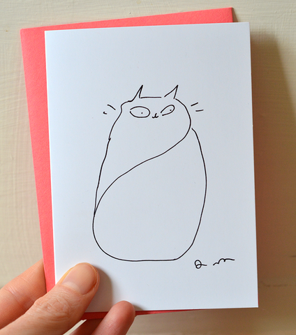 Thinking of You - Mini Cat Card