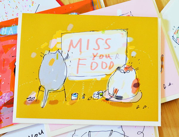 Miss Your Food - Miss You Card