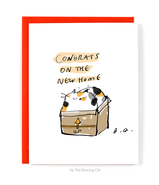 Congrats on the New Home Card- Calico
