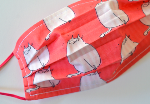 Happy Cat - Pink Cat Face Mask- In Stock