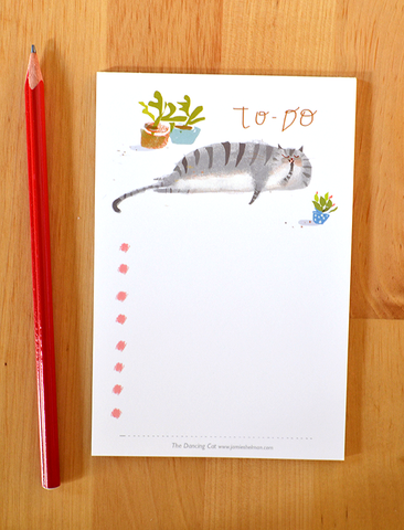 Cat To-Do List Notepad
