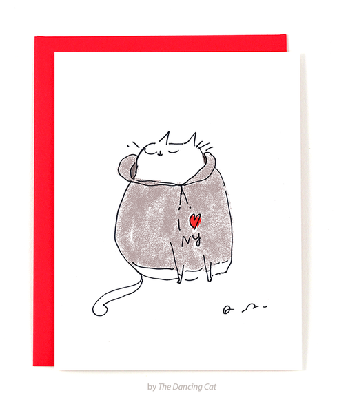 I Heart NY Cat Card