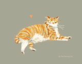 Orange Tabby Cat Print - Love Machine