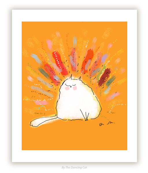 Pawsitive Vibes - Cat Print