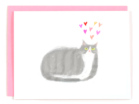 Little Grey - Love Cat Card