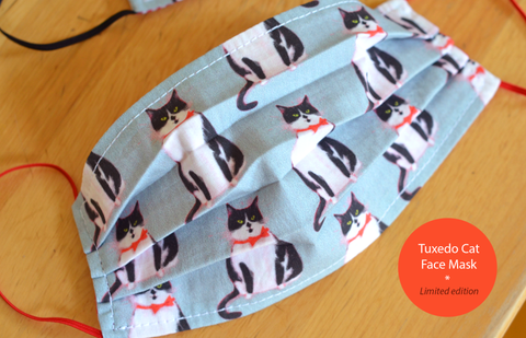 Tuxedo Cat Face Mask- IN STOCK - Limited Edition
