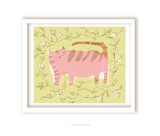 Pink Kitty - Large Cat Print