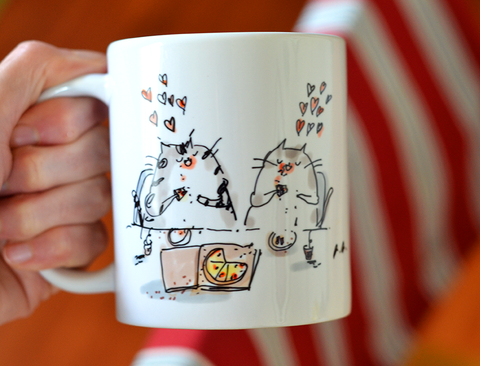 Pizza Cat Mug