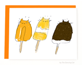 Popsicle Cat Card