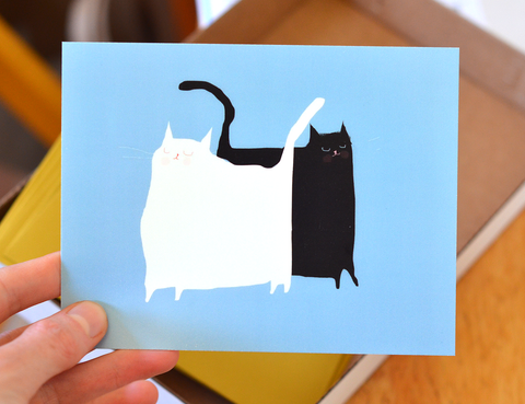 Beep & Bop Cat Postcards- Set of 10
