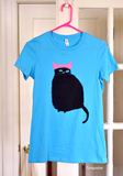 Pink Hat Cat Shirt - Pick Your Color