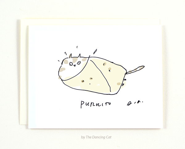 Purrito Cat Card