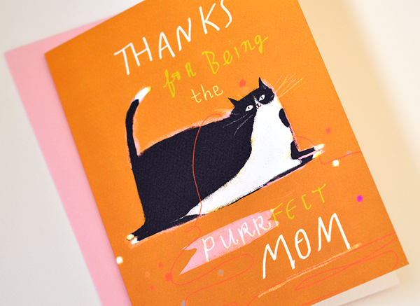 Thanks for Being the Purrfect Mom - Cat Card