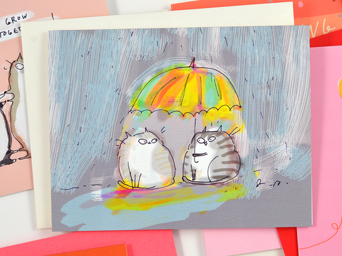 Rainy Day Friend Card