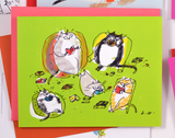 Greetings from Home 2- The Dancing Cat Care Package 2 - Set of 10 Cards