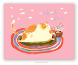 Thank You Cat Card - Rug Cat