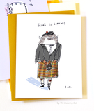 Hou's it gaun? Scottish Cat Card- Funny Cat Card