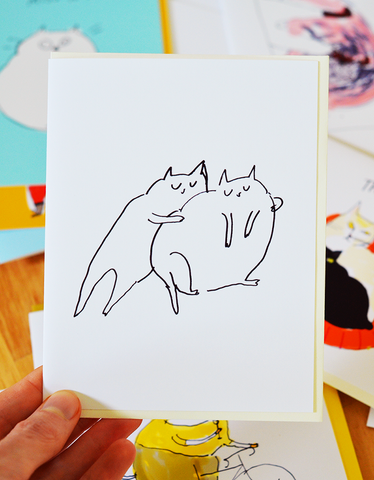 Cat Squeeze- Cat Card
