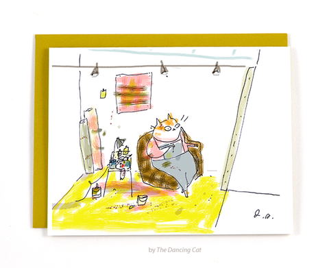 Studio Cat Card 3 - The Atelier