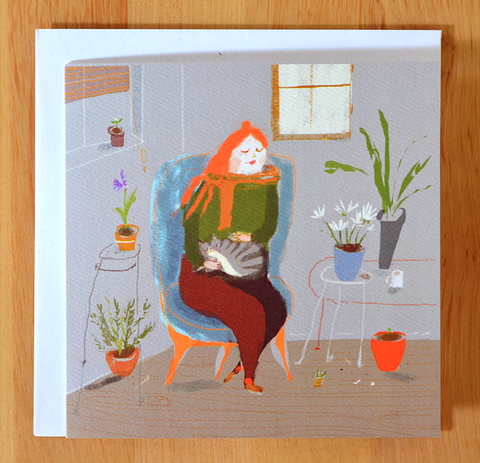 Thinking of You - House Plants - Cat Lady Card